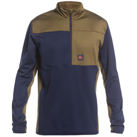 Quiksilver Steep Point Fleece-top med halv lynlås Herrer, blå/oliven